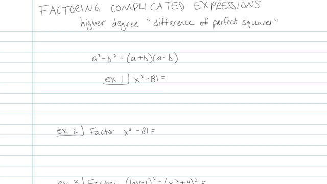 Factoring Complicated Expressions - Problem 6