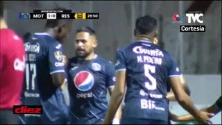 Mathías Galvaliz cruzó al portero Buba López pára anotar el primer gol del Motagua