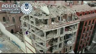 Video muestra el caos y destrucción que dejó explosión en centro de Madrid