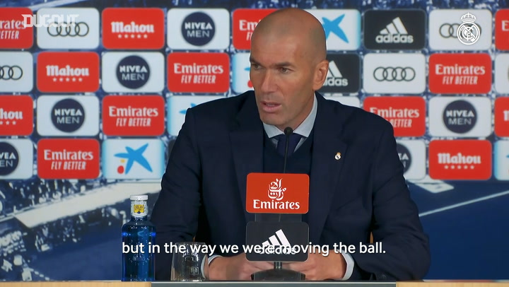 Zinedine Zidane: 'We can be very pleased because we played against a great side'
