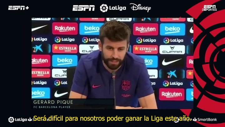 """Piqué: """"Será difícil ganar LaLiga este año"""""""