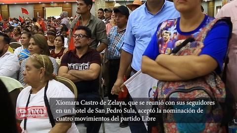 Xiomara Castro oficializa precandidatura presidencial por el partido Libre
