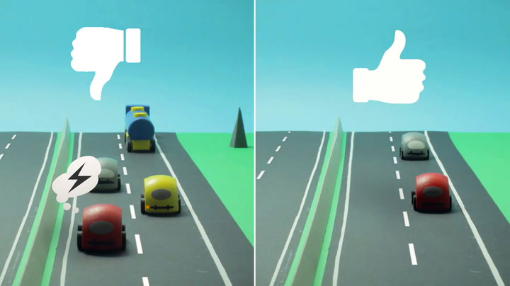 Ja, det er slik du skal kjøre på motorveien