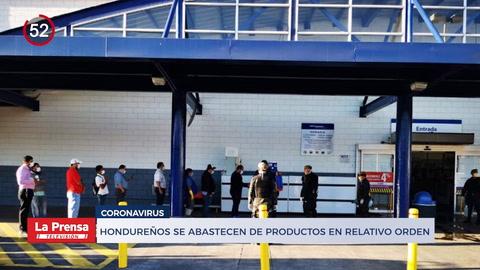 Noticiero: Hondureños se abastecen de productor en relativo orden