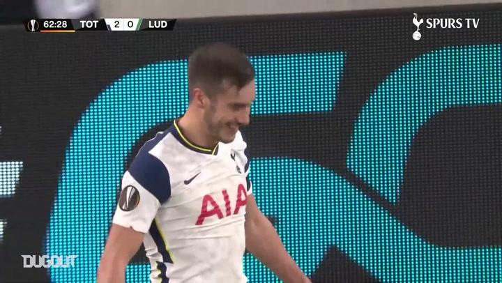 Golaço de Harry Winks pelo Tottenham contra o Ludogorets