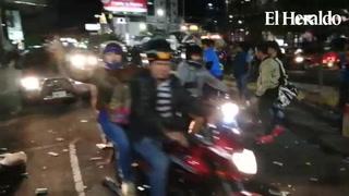 Algarabía en calles capitalinas tras obtención de la copa 16
