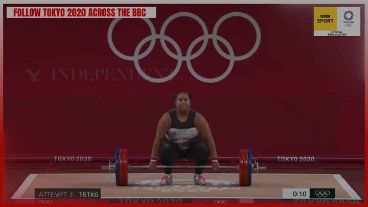 Emily Campbell wins Team GB's first ever Olympic medal in women's weightlifting