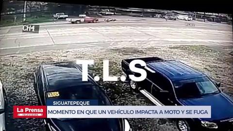 Captan en video el momento en el que un vehículo impacta a una moto y se fuga