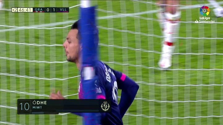 Gol de Óscar Plano (0-1) en el Granada 1-3 Valladolid