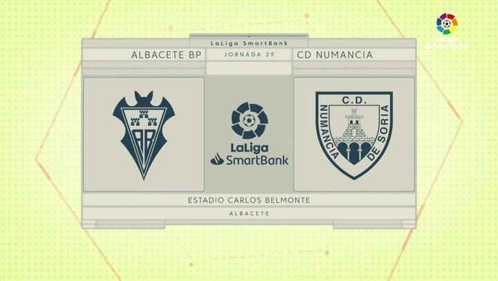 LaLiga SmartBank (J29): Resumen y goles del Albacete 2-1 Numancia