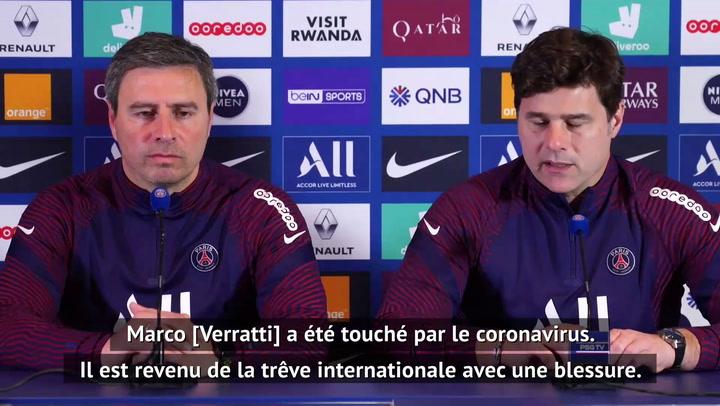 Quarts - Verratti absent contre Angers