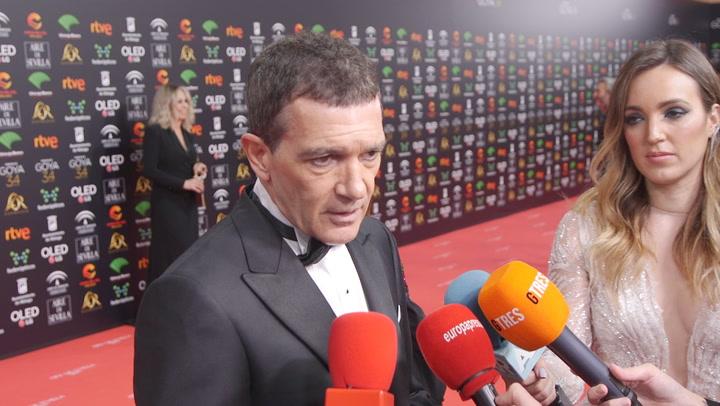 Antonio Banderas en los Goya: \'El Oscar es muy complicado\'