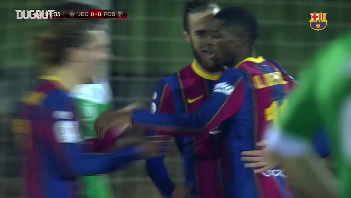 Golaço de Ousmane Dembélé pelo Barça sobre o Cornella