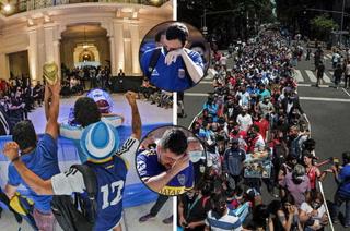 Así despiden a Diego Maradona, el estadio azteca se viste de gala para darle el último adiós