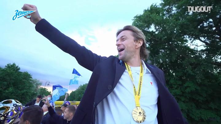 Zenit's Trophy Parade