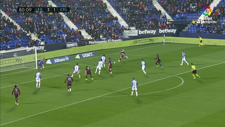 Gol de Aspas (3-2) en el Leganés 3-2 Celta