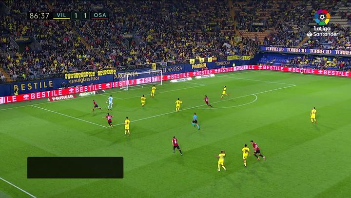 Gol de Chimy Ávila (1-2) en el Villarreal 1-2 Osasuna