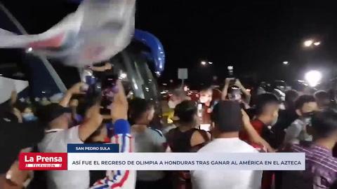 Así fue el regreso de Olimpia a Honduras tras ganar al América en el Azteca