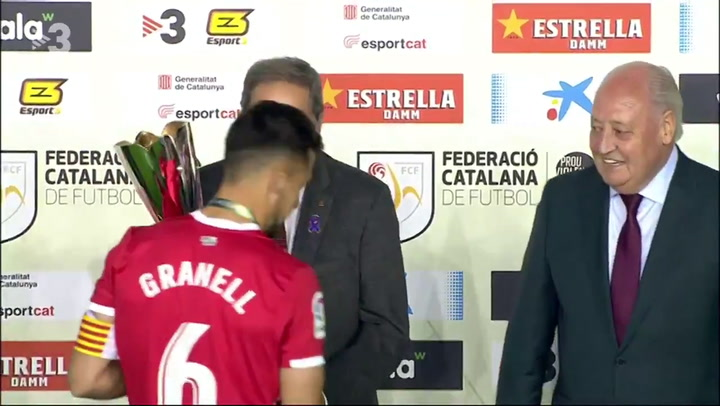 El Girona celebra la victoria en la Supercopa de Catalunya