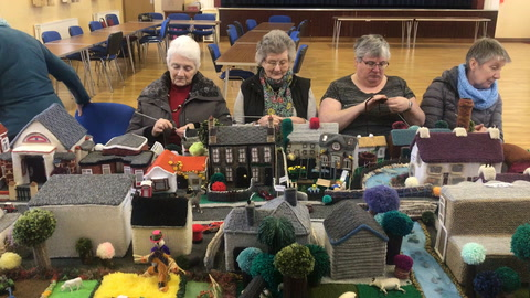Video: Cloughmills village knitted by crochet club
