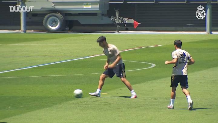 El equipo prepara el partido contra el Villarreal