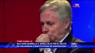 Billy Joya revela entre lágrimas en foro de TV detalles de la querella a diputado Jorge Cálix