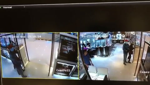 El video de un millonario robo que duró apenas 30 segundos