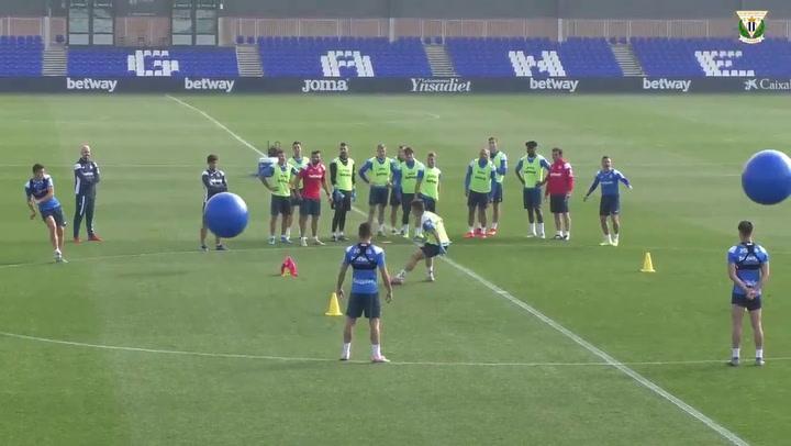 El curioso entrenamiento del Leganés antes de enfrentarse al Real Madrid