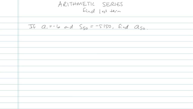 Arithmetic Series - Problem 9