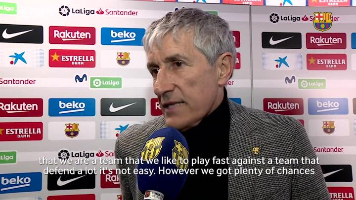 Quique Setién: 'Sometimes it's not easy to score goals'