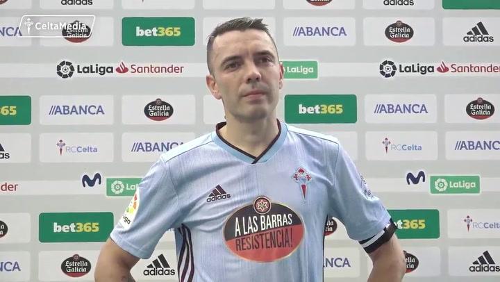 """Aspas: """"¿El gol de falta? Vimos vídeos con los entrenadores de porteros"""""""