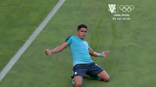 Luis Palma anota el primer gol de Honduras en los Juegos Olímpicos de Tokio ante Nueva Zelanda