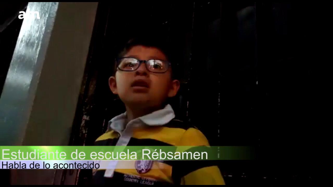 Niño habla de tragedia en Colegio Rébsamen