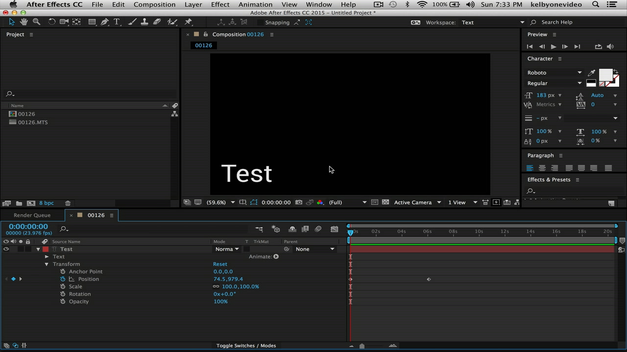 Easing and Motion Blur in After Effects – KelbyOne