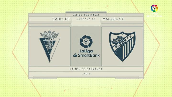 LaLiga SmartBank (J28): Resumen y gol del Cádiz 0-1 Málaga