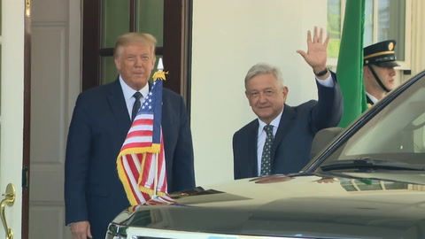 López Obrador llegó a la Casa Blanca para su primer encuentro con Trump