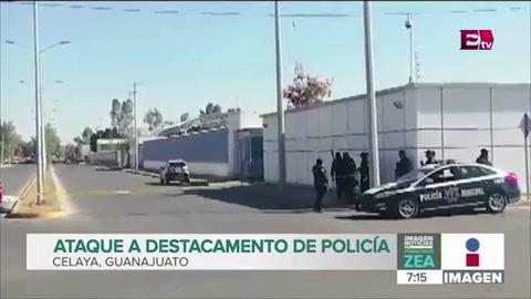 Comando armado ataca comandancia en Celaya, México