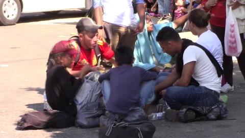 Los niños, de nuevo protagonistas involuntarios de la caravana migrante