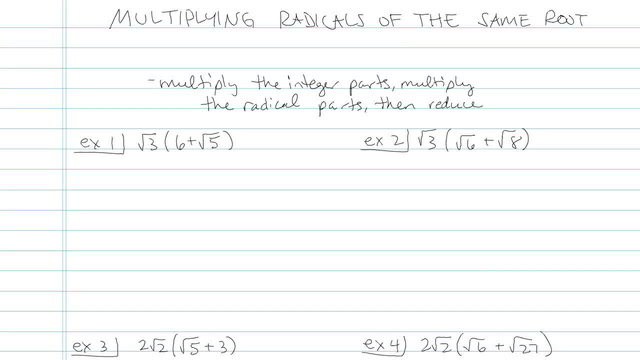 Multiplying Radicals of the Same Root - Problem 4