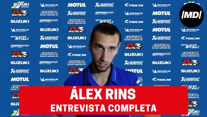La entrevista completa a Álex Rins, piloto de Suzuki de MotoGP