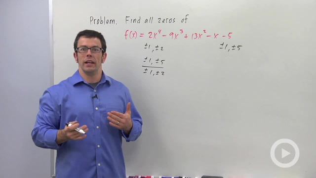 Finding Zeros of a Polynomial Function - Problem 2