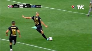 Cañonazo de Villafranca para asegurar el gol: Motagua castiga a Olimpia tras error defensivo