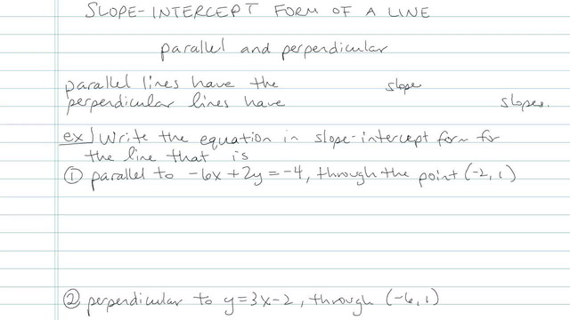 Slope-Intercept Form of a Line - Problem 7