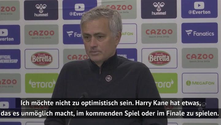 Mourinho lässt Dauer von Kane-Verletzung offen
