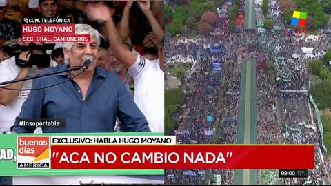 Moyano hizo un balance de la marcha y le apuntó al Gobierno: No estamos mejor que antes