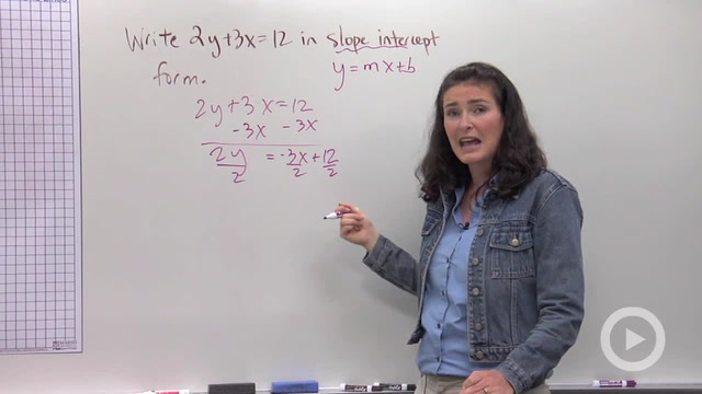Writing Equations in Slope-Intercept Form - Problem 3