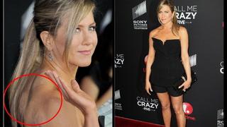 Se Anistons tabbe på den røde løperen