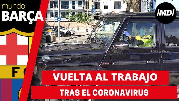 El Barça reanuda los entrenamientos tras el coronavirus