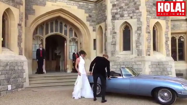 Prince Harry and Meghan Markle make the ultimate James Bond move to their wedding reception