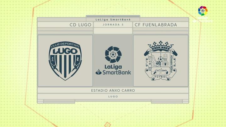 LaLiga SmartBank (J5): Resumen y goles del Lugo 2-0 Fuenlabrada